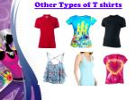 other types of t shirts