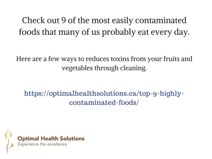 Check out 9 of the most easily contaminated