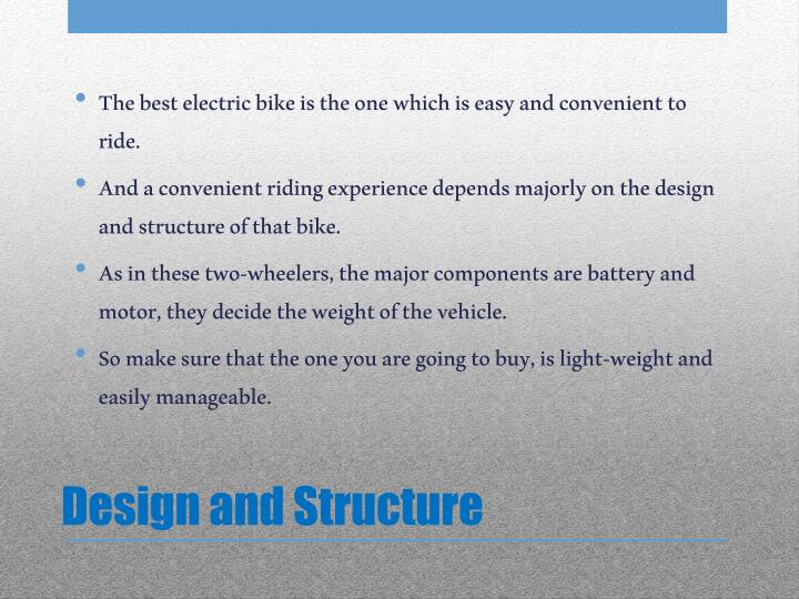 Design and structure