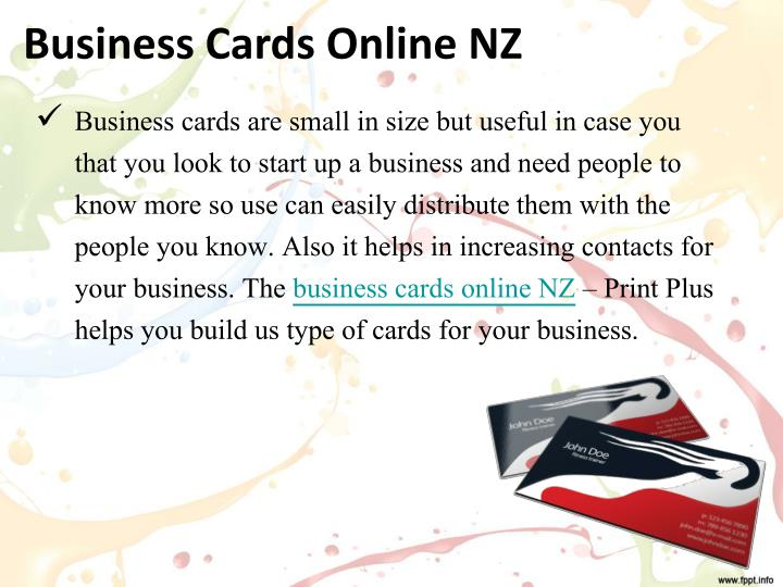 Ppt choose digital printing auckland for your firm powerpoint business cards online nz reheart Gallery