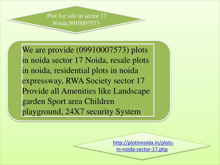 Plot for sale in sector 17 Noida,9910007573