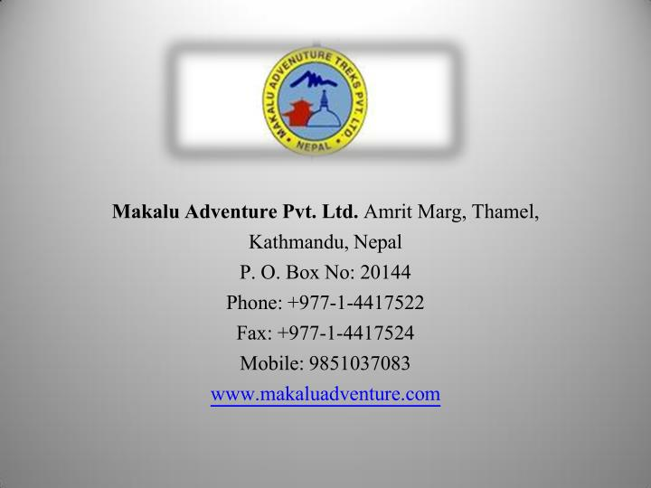 Makalu Adventure Pvt. Ltd.