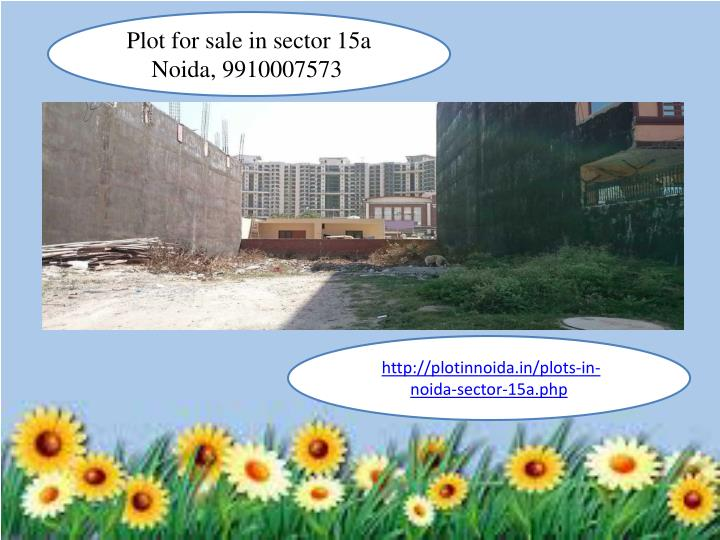 Plot for sale in sector 15a