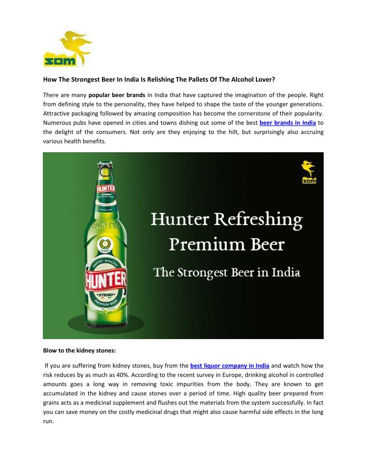 How The Strongest Beer In India Is Relishing The Pallets Of The Alcohol Lover?