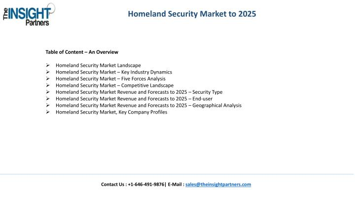 Homeland Security Market to 2025