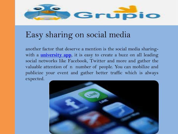 Easy sharing on social media