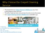 why choose o ur carpet cleaning service