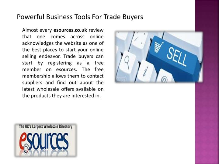 Powerful Business Tools For Trade Buyers