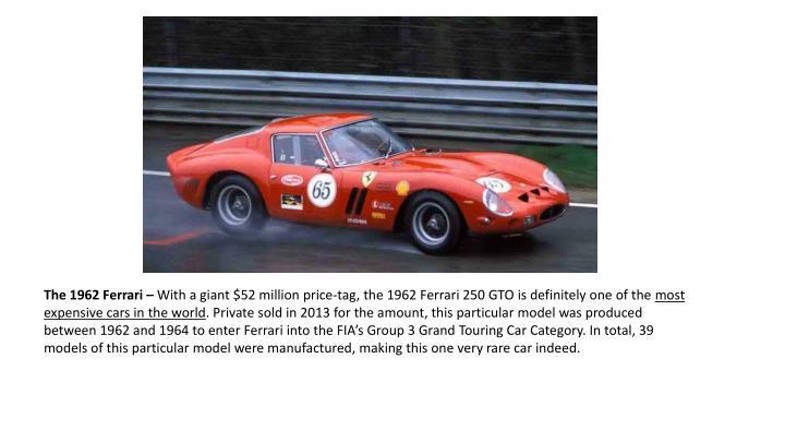 The 1962 Ferrari