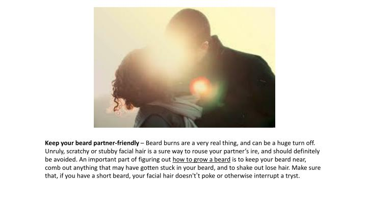Keep your beard partner-friendly