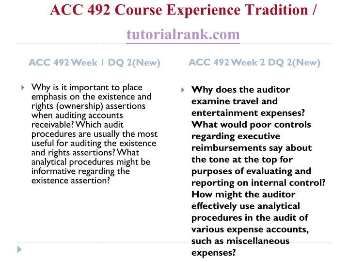 Acc 492 course experience tradition tutorialrank com2