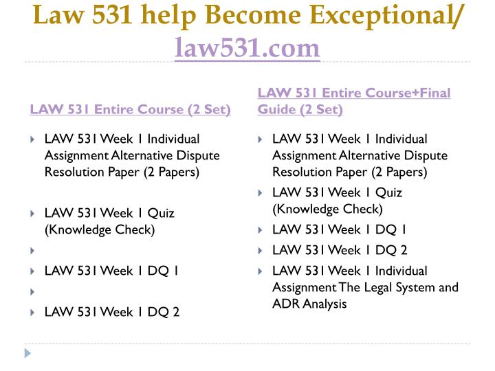 Law 531 help become exceptional law531 com1