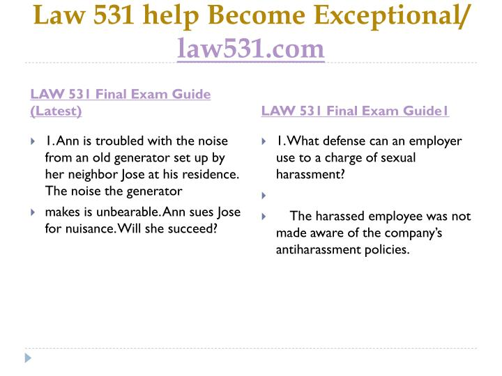 Law 531 help become exceptional law531 com2