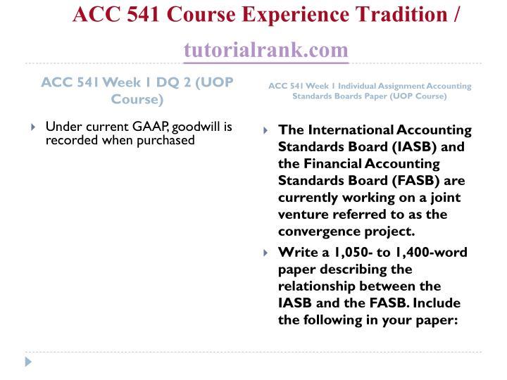 Acc 541 course experience tradition tutorialrank com2