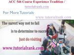 acc 546 course experience tradition tutorialrank com5