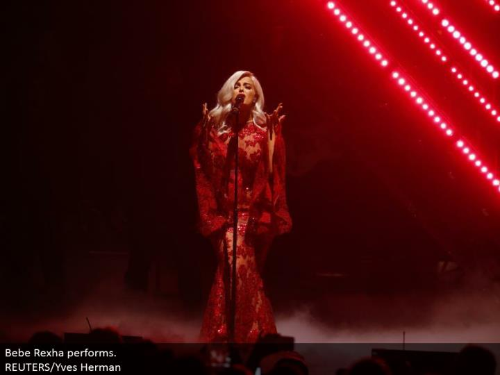 Bebe Rexha performs.  REUTERS/Yves Herman