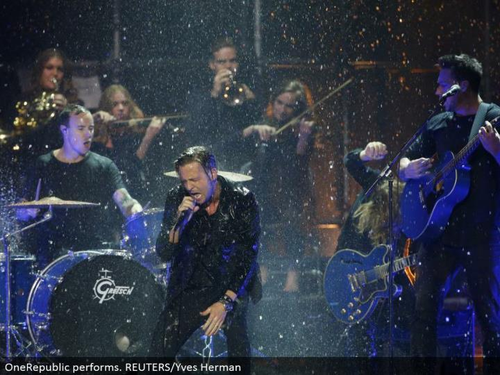 OneRepublic performs. REUTERS/Yves Herman