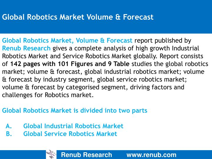 Global robotics market volume forecast
