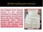 bridesmaids gown kansas