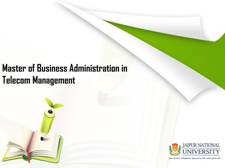 Master of business administration in telecom management