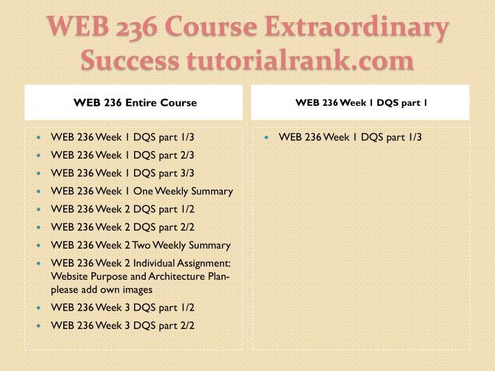 Web 236 course extraordinary success tutorialrank com1