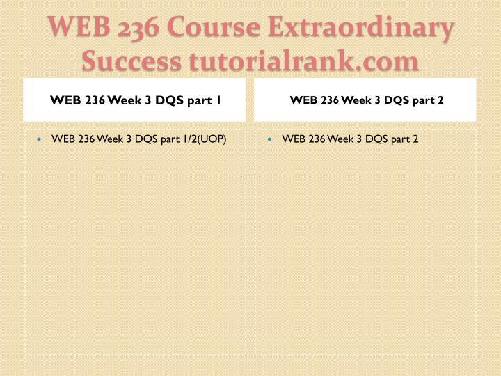 WEB 236 Week 3 DQS part 1
