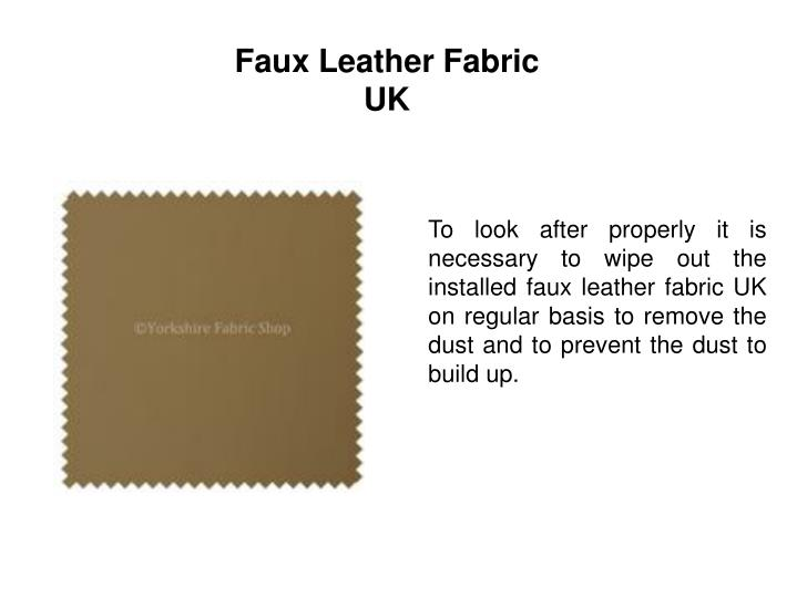 Faux Leather Fabric UK