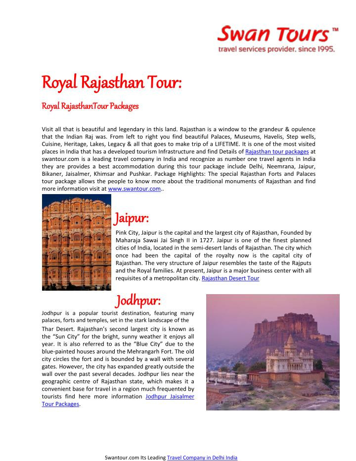 Royal Rajasthan Tour: