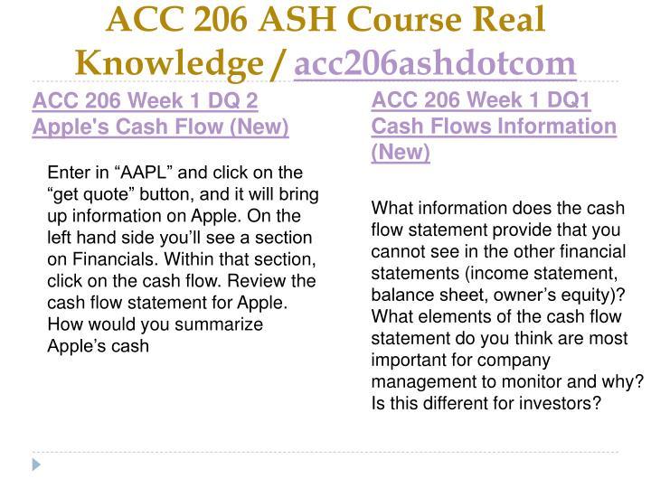 Acc 206 ash course real knowledge acc206ashdotcom2