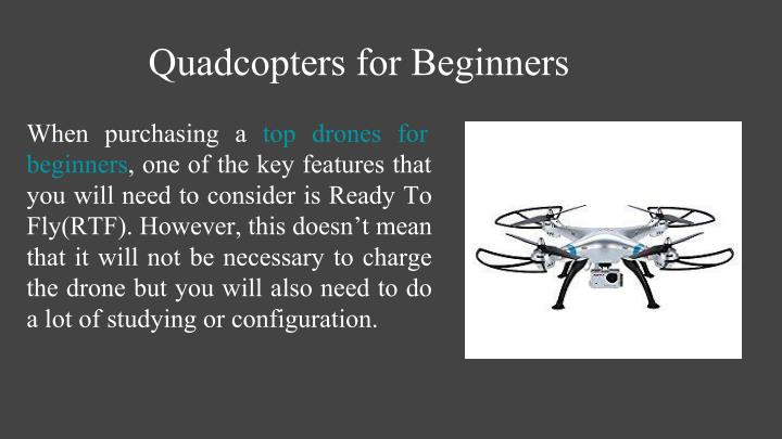 Quadcopters for Beginners