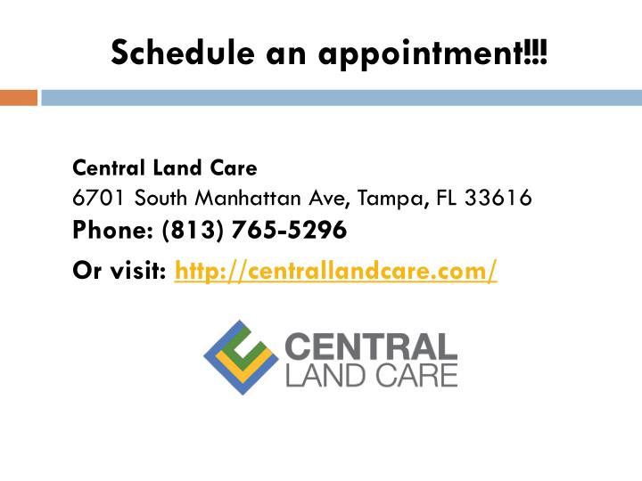 Schedule an appointment!!!
