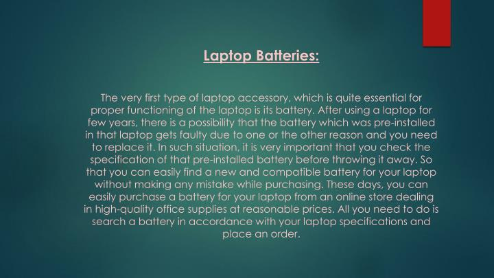 Laptop Batteries: