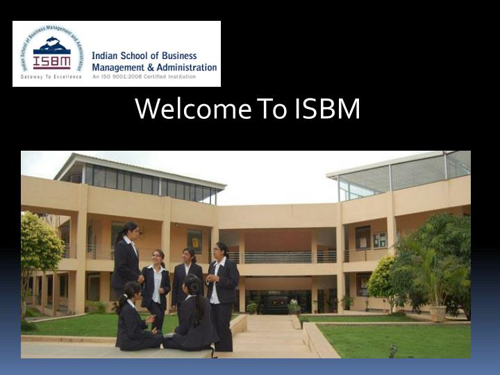 Welcome To ISBM