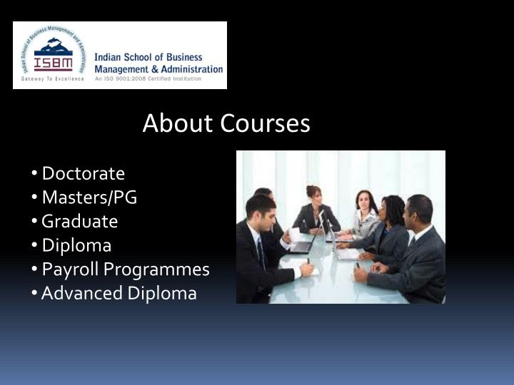 About Courses