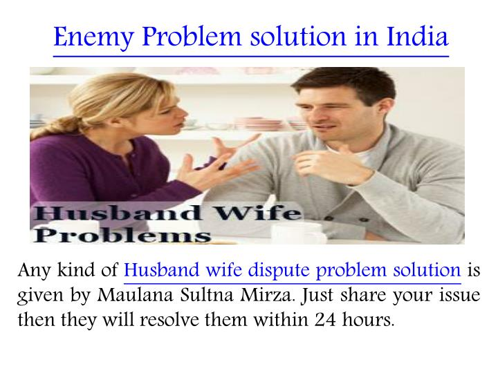 Enemy Problem solution in India