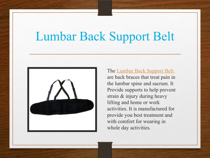 Lumbar Back Support Belt