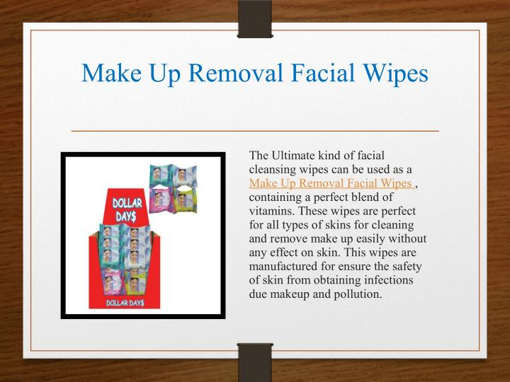 Make Up Removal Facial Wipes