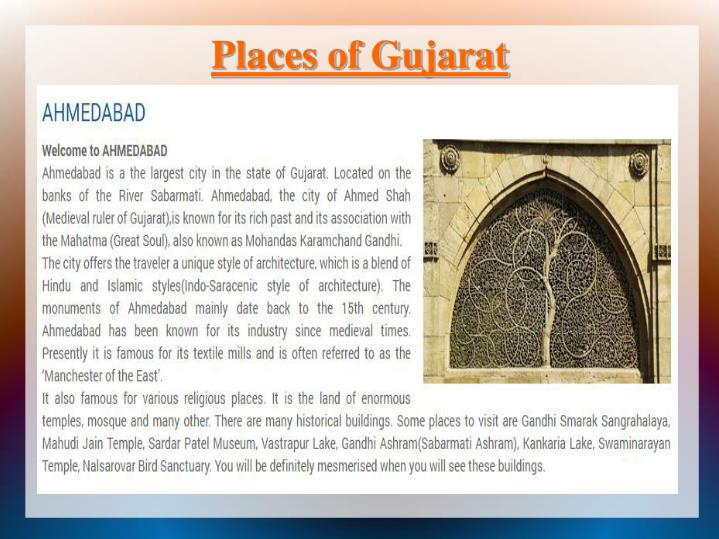 Places of Gujarat