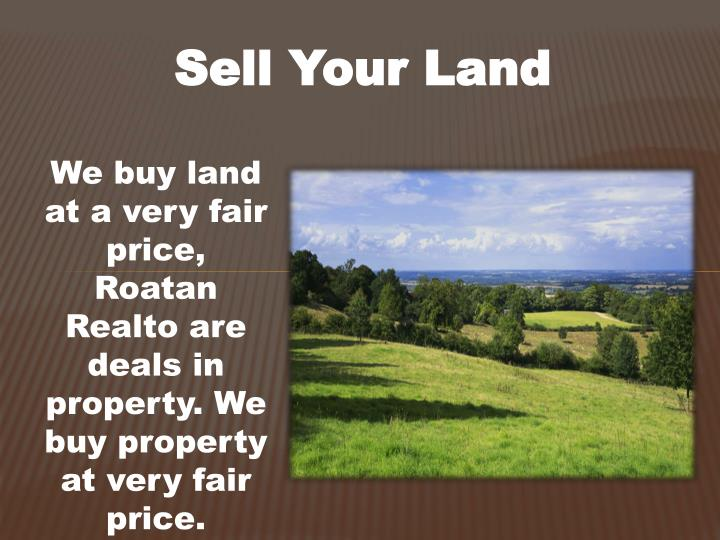 Sell Your Land