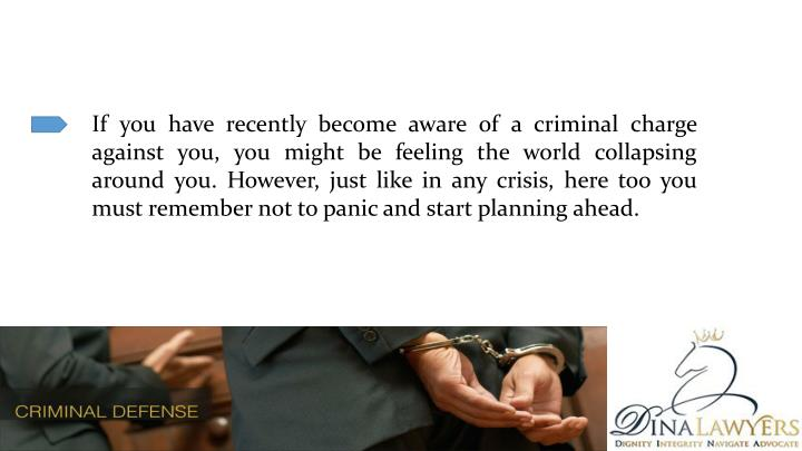 If you have recently become aware of a criminal charge against you, you might be feeling the world c...