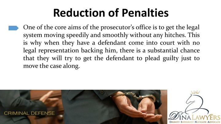 Reduction of Penalties