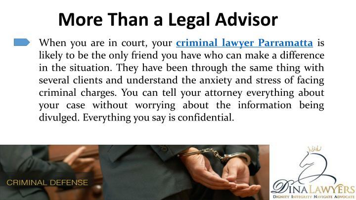 More Than a Legal Advisor
