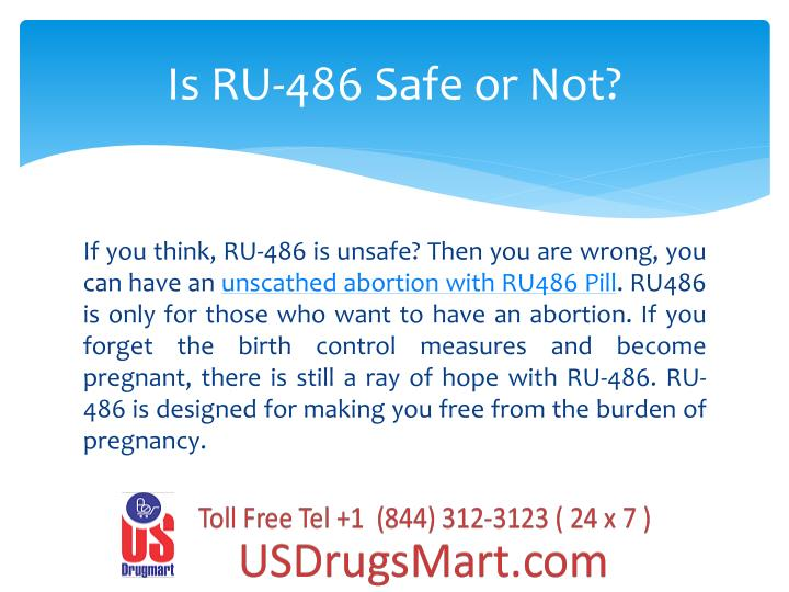 Is ru 486 safe or not
