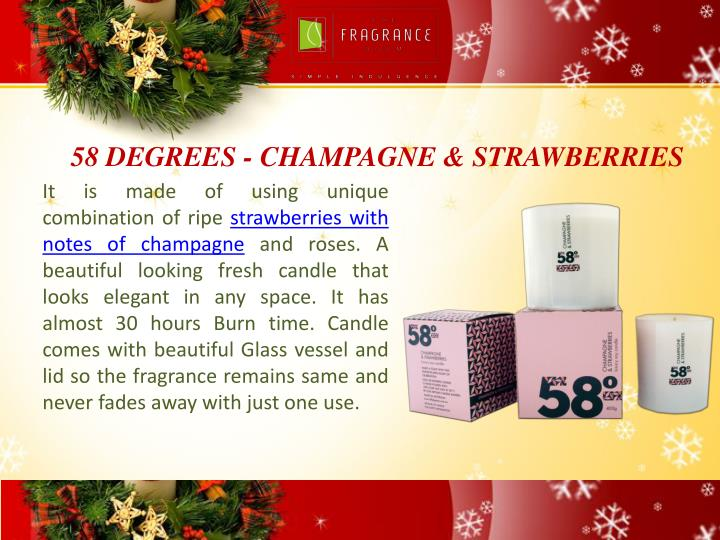 58 degrees champagne strawberries