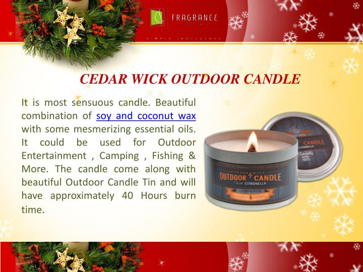 CEDAR WICK OUTDOOR CANDLE