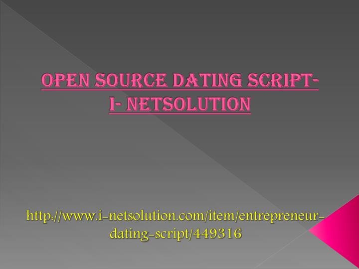 open source dating script i netsolution n.