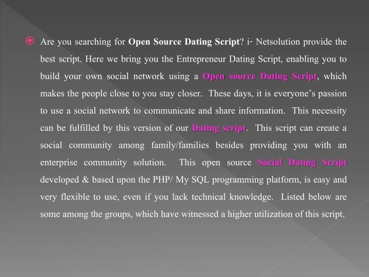 Best open source dating website