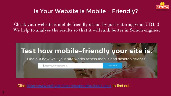 Is your website is mobile friendly
