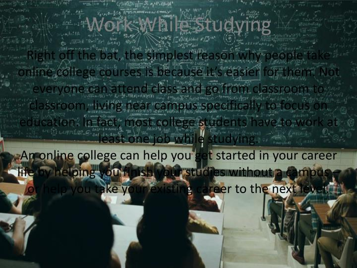 Work While Studying