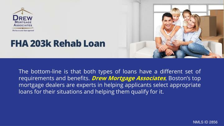 The bottom-line is that both types of loans have a different set of requirements and benefits.